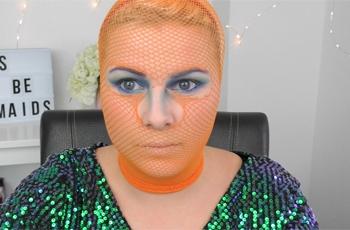 Netzstrumpfhose-meerjungfrau-schminken